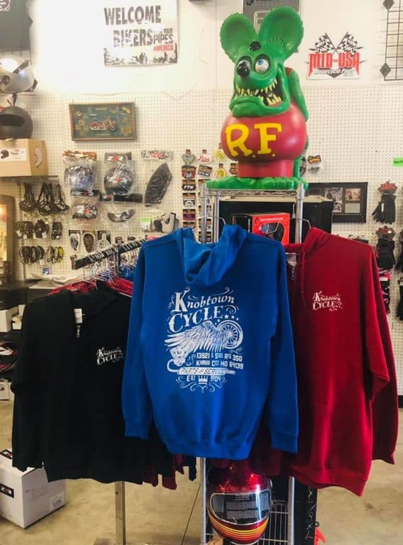 KTC t-shirts and hoodies, BLOWOUT sale on all KTC t-shirts and hoodies, Knobtown Cycle