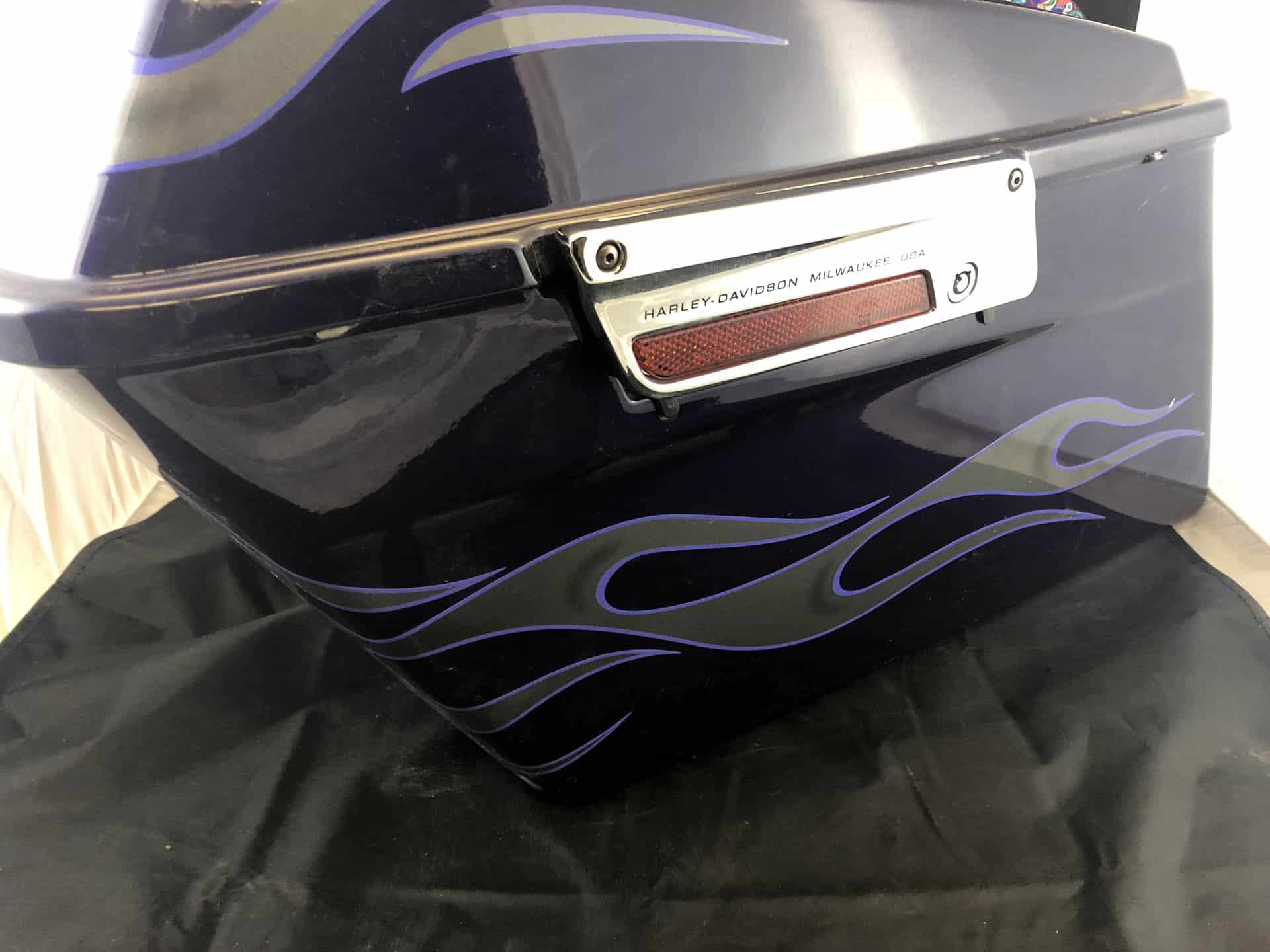 Used Saddlebag Set Purple with Flames