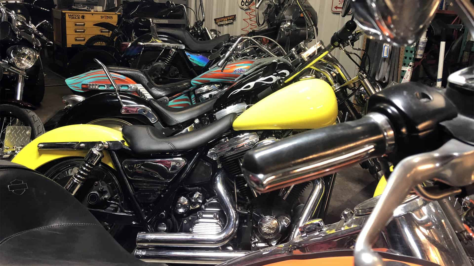 Custom Motorcycles at Knobtown Cycle