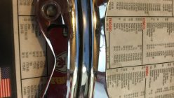 FXR Red with Gold Fuel Tank, FXR Red with Gold Fuel Tank with Gauge for sale., Knobtown Cycle, Knobtown Cycle